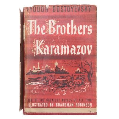 """Illustrated """"The Brothers Karamazov"""" by Fyodor Dostoyevsky, 1940"""