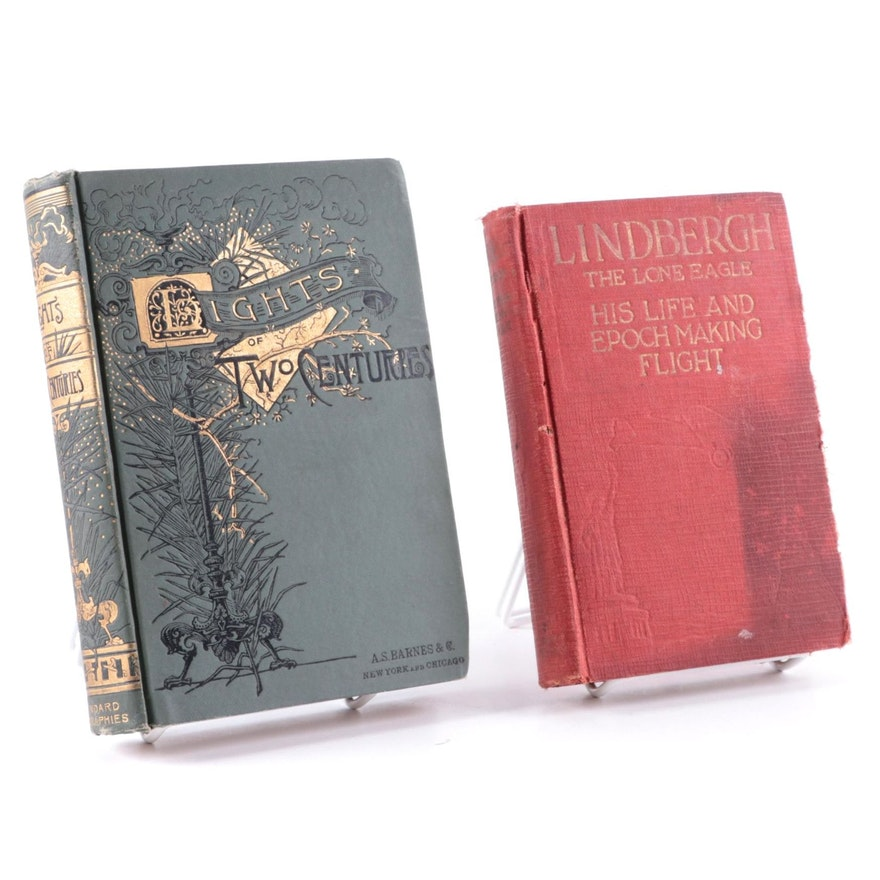 """First Edition """"Lindbergh: The Lone Eagle"""" and More, Late 19th/Early 20th Century"""