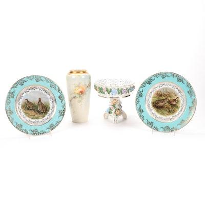 Antique Porcelain Tableware Featuring Josef Kuba KPM