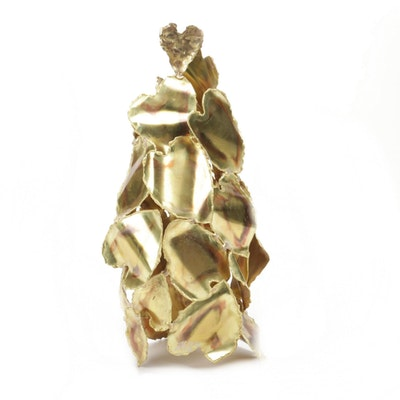 Abstract Brass Hearts Sculpture