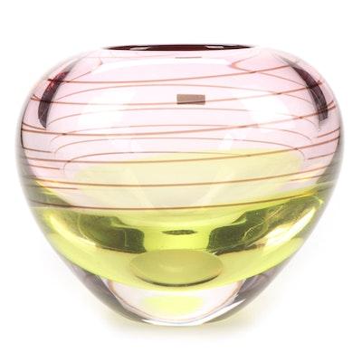 """Waterford """"Evolution"""" Handblown Art Glass Vase"""