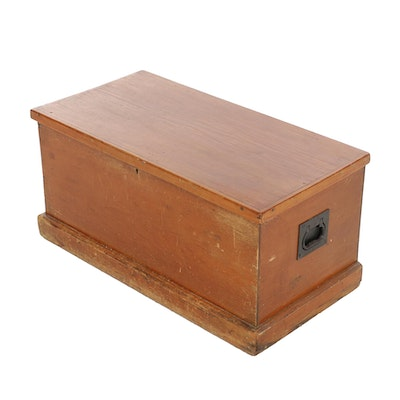 American Primitive Pine Lift-Lid Tool Chest, Late 19th Century