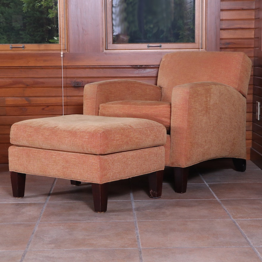 Arhaus Camden Collection Lounge Chair and Ottoman