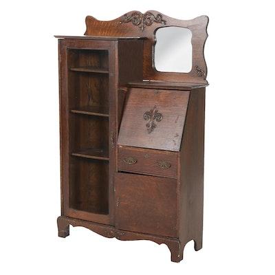 Larkin Oak Side-by-Side Secretary Bookcase, Early 20th Century