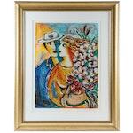 "Zamy Steynovitz Serigraph ""Spring Bouquet,"" Late 20th Century"