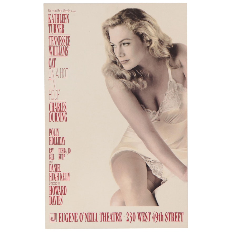 """""""Cat on a Hot Tin Roof"""" at Eugene O'Neill Theater Show Poster, 1990"""