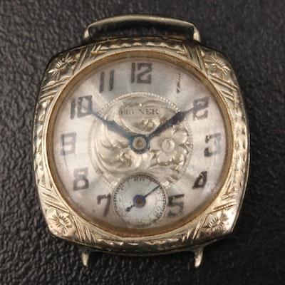 14K Bruner Wristwatch for Scrap Value