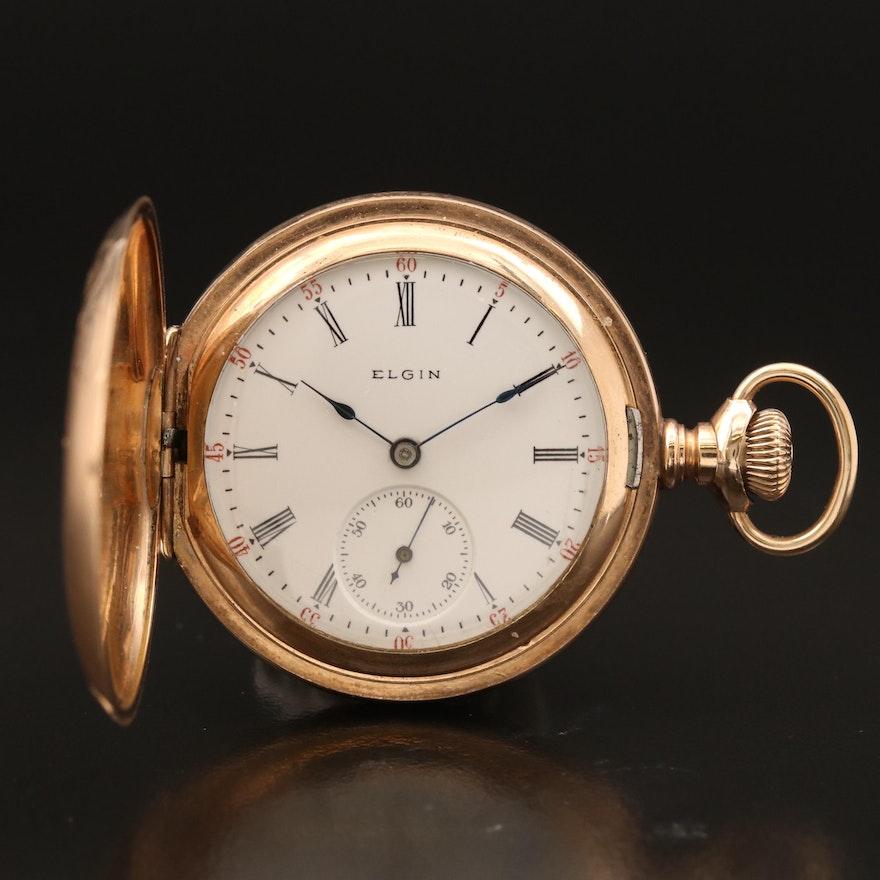 1904 Elgin Gold Filled Hunting Case Pocket Watch