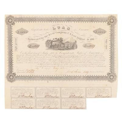 Confederate Loan Document, 1862