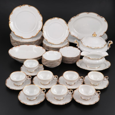 "Hutschenreuther ""Brighton"" Porcelain Dinnerware, Mid to Late 20th Century"