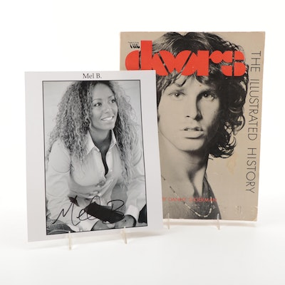 """""""The Doors: The Illustrated History"""" and Mel B. Autographed Print"""