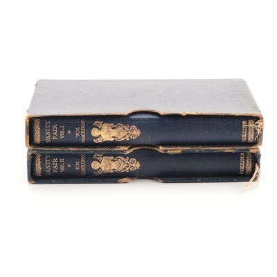 """Illustrated """"Vanity Fair"""" Two-Volume Set by William Makepeace Thackeray"""
