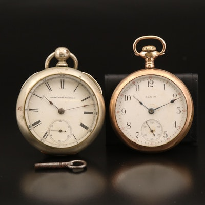 Antique Elgin 18 Size Pocket Watches