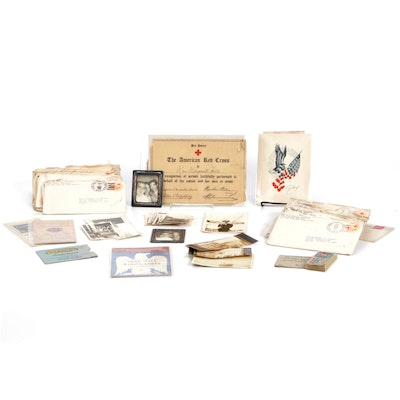 World War II Letters, Ration Cards, Certificates, and Other Ephemera