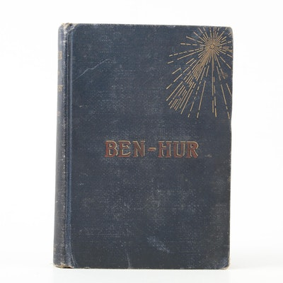 """First Edition, Later Printing """"Ben-Hur"""" by Lew Wallace, 1880s"""