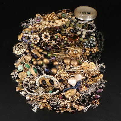 Vintage Costume Jewelry Featuring Bergere, D. David and Goldette