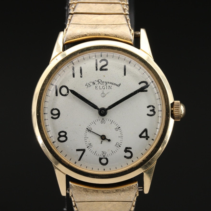Vintage 14K Gold Elgin B.W. Raymond Railroad Wrist Chronometer