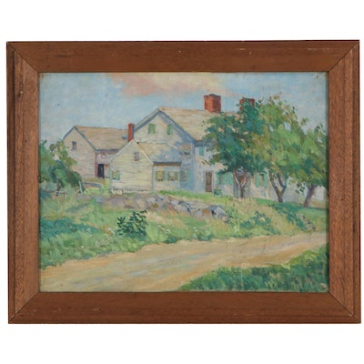 Elizabeth G. Jewell Residential Landscape Oil Painting