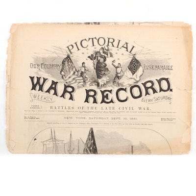 """Illustrated """"Pictorial War Record"""" Partial Newspaper, 1881"""