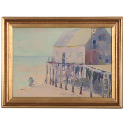 Eloise McWilliams Boat House Oil Painting
