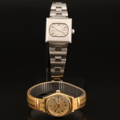 Seiko Day/Date Automatic Wristwatches