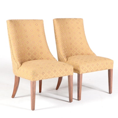 Pair of Bailey Street Holding Co. Upholstered Dining Side Chairs
