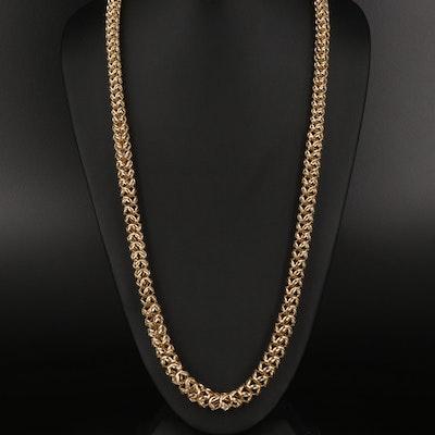 Italian 18K Graduated Fancy Link Necklace