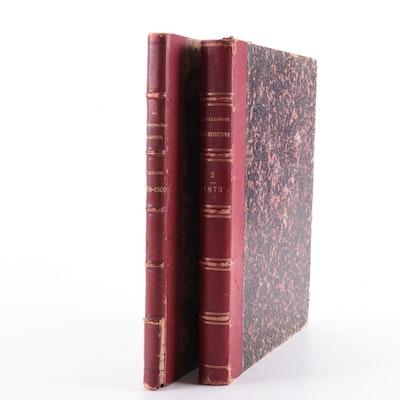"""""""Encyclopédie d'Architecture"""" Vol. II with """"La Construction moderne"""" by Planat"""