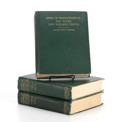 """Birds of Massachusetts"" Three-Volume Set by Edward Howe Forbush, 1925–1929"