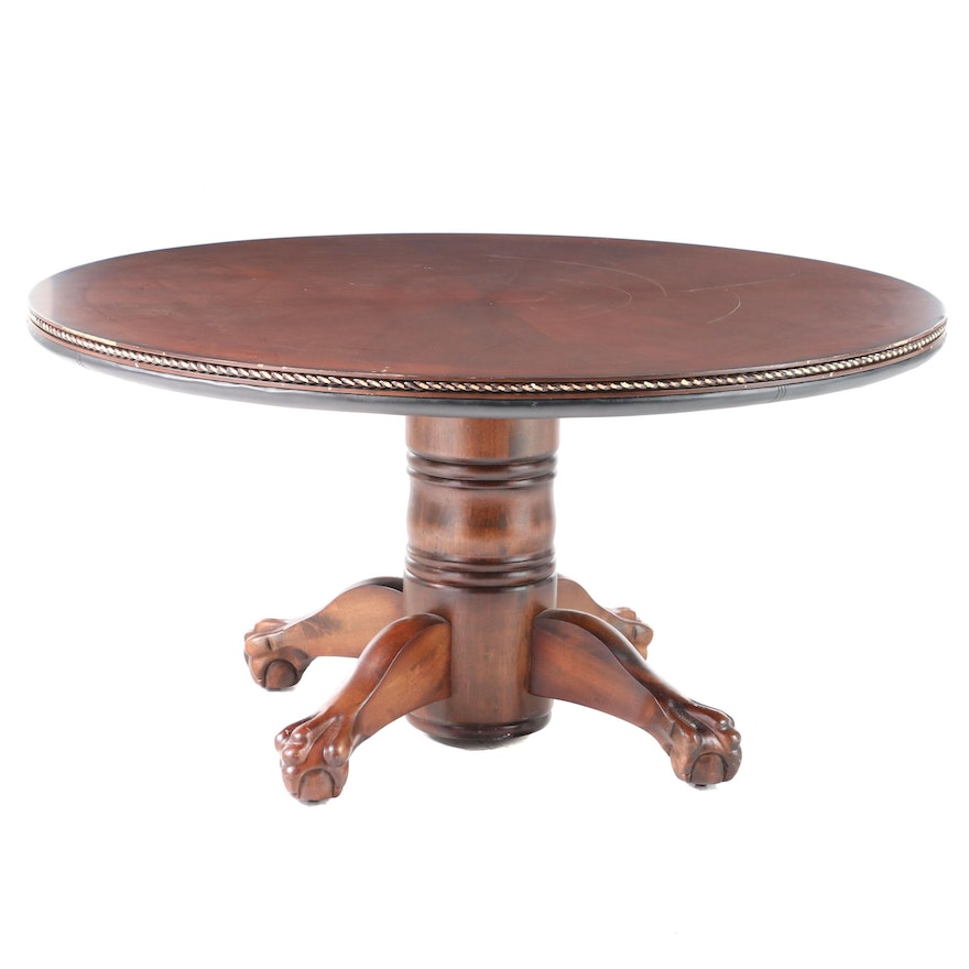 AHB Home Furniture Cherrywood-Stained Reversible-Top Dining/Games Table