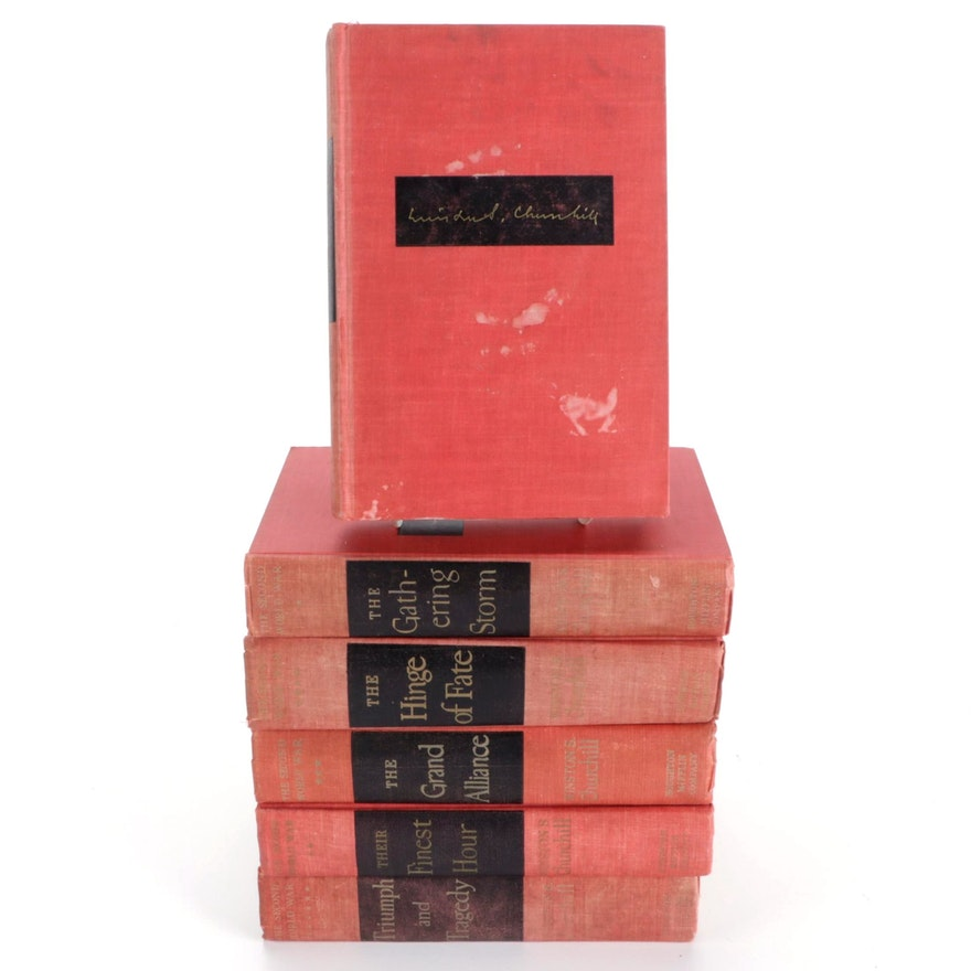 """First Edition """"The Second World War"""" by Winston S. Churchill, 1948–1953"""