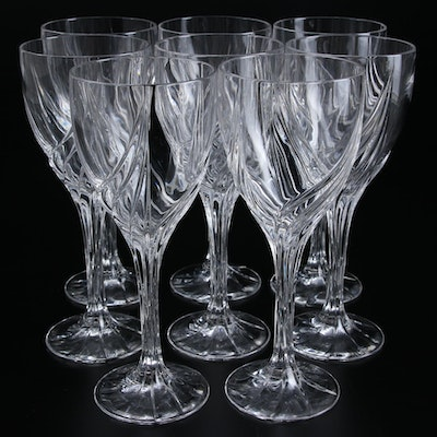 Glass Spiral Wine Glasses Collection for Eight w