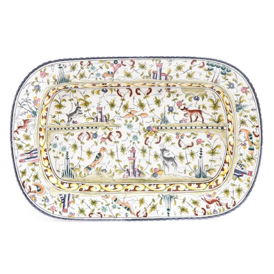 """Williams-Sonoma Hand-Painted Portuguese """"Provence"""" Serving Platter"""