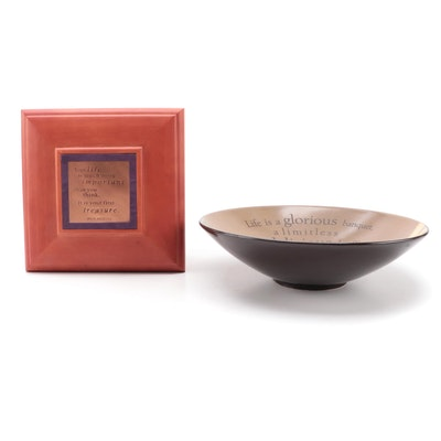 Hallmark Maya Angelou Wooden Jewelry Box and Ceramic Bowl