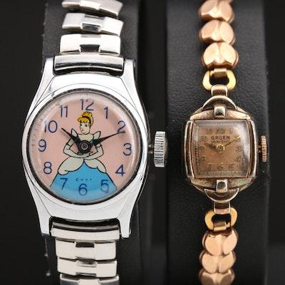 Walt Disney's Cinderella & Gruen Vintage Wristwatch