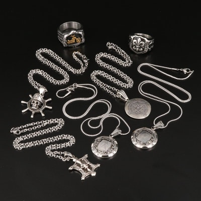 Pendant Necklaces and Rings Including Sterling Silver