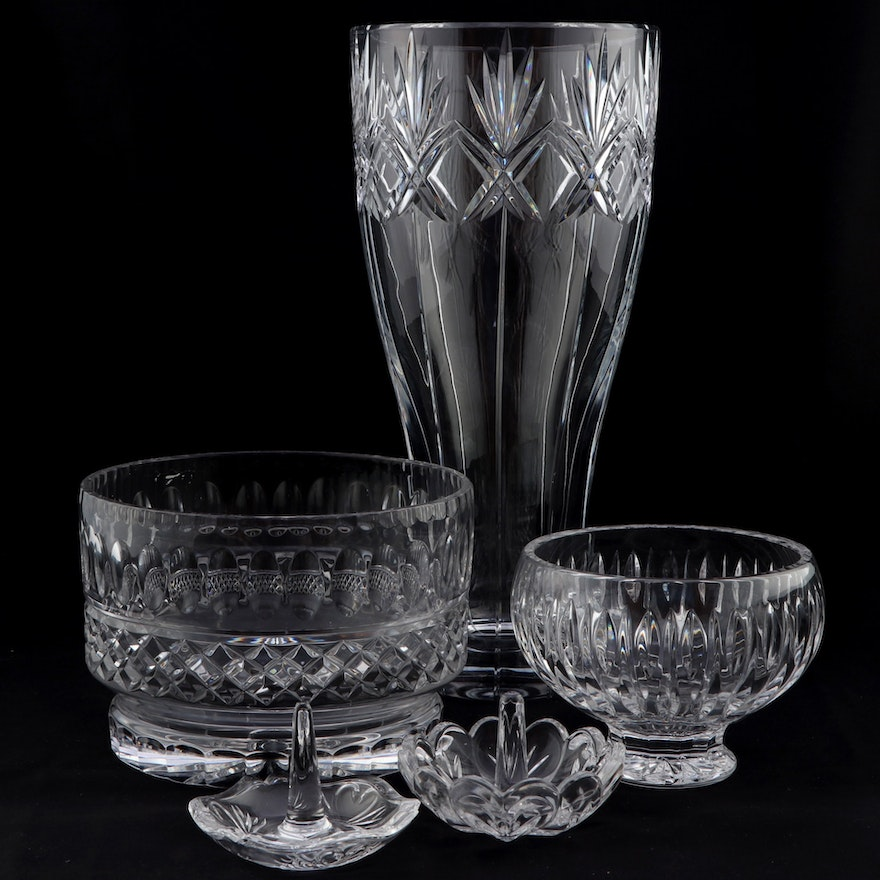 """Marquis by Waterford """"Sheridan"""" Crystal Bowl and Other Crystal Tableware"""
