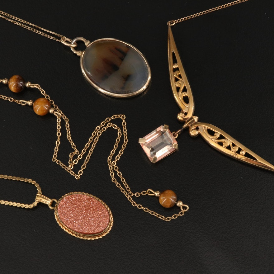 Gold Filled Necklaces Featuring Van Dell and Gemstone Accents