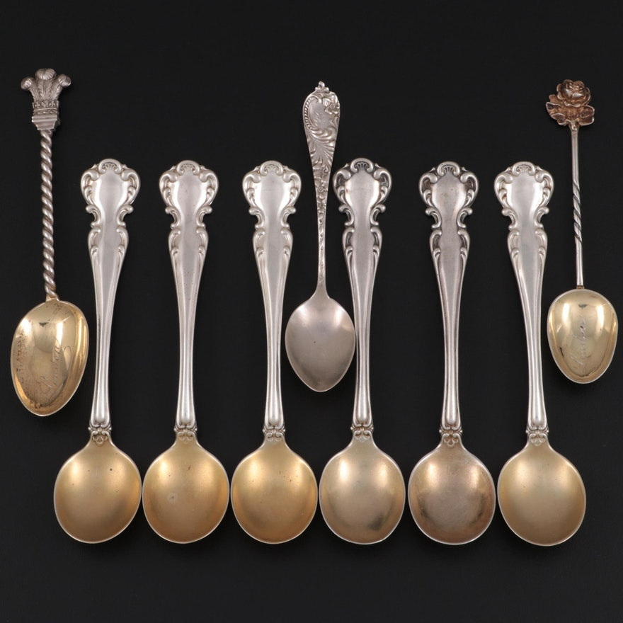"""Simons Bros. """"Flanders"""" Sterling Silver Soup Spoons and More"""