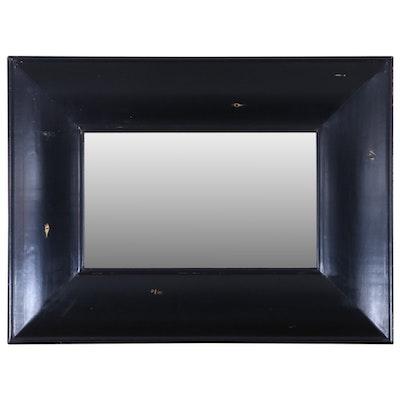 Arhaus Distressed Black Wide Frame Rectangular Mirror