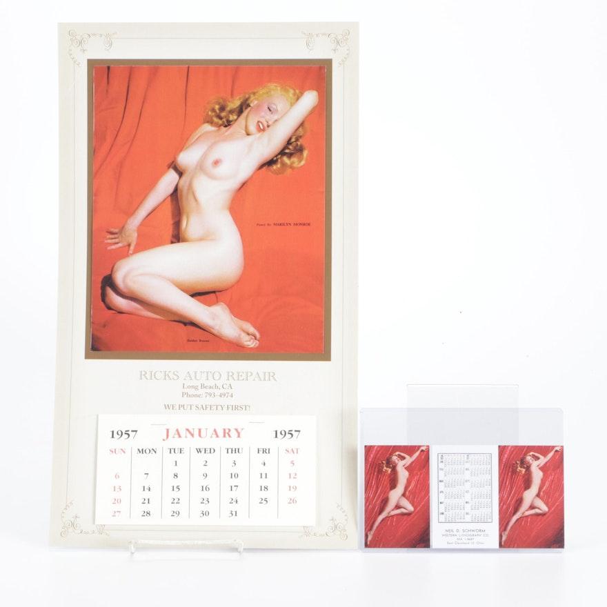 "Marilyn Monroe ""Golden Dreams"" Nude Pinup Calendars"