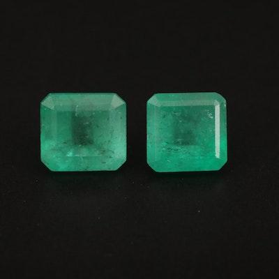 Loose 4.22 CTW Square Faceted Emeralds