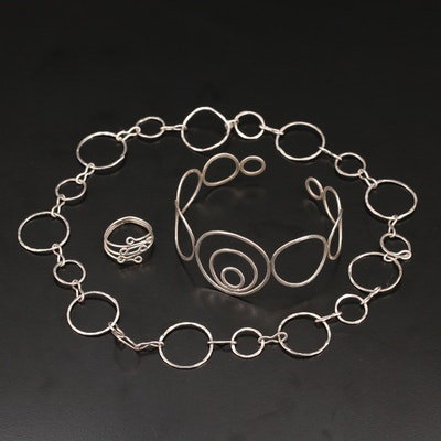 Sterling Circular Jewelry Collection