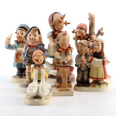 "Goebel ""Out of Danger"", ""Home From Market"", and Other Porcelain Hummel Figurines"