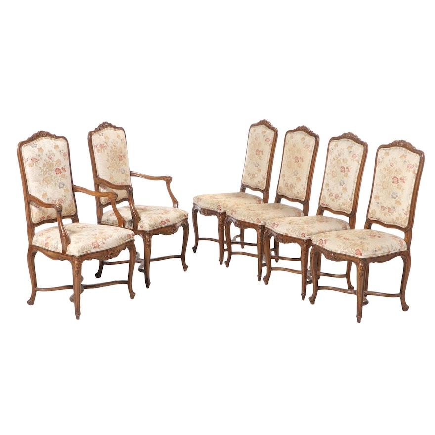 Six John Widdicomb Co. Louis XV-Style Beech Dining Chairs