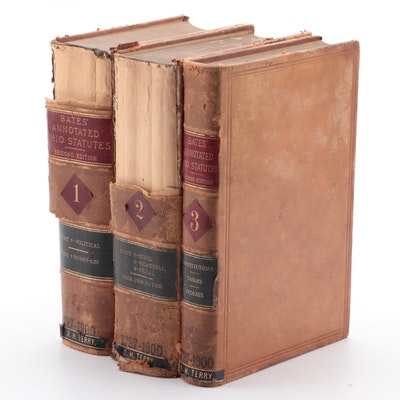 """""""The Annotated Revised Statutes of Ohio"""" Vol. I–III by Clement Bates, 1898–1899"""