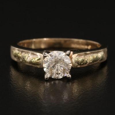14K Diamond Solitare Ring