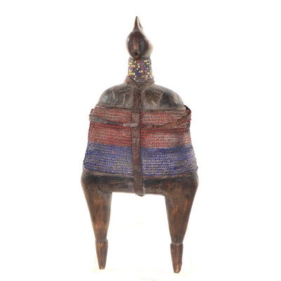 Namji Style Beaded Wood Doll, Cameroon