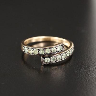 9K Tsavorite Garnet Bypass Ring