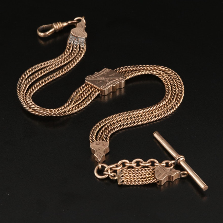 Early 1900s Providence Stock Co. Albert Watch Chain